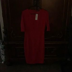 NWT red dress. Great for the office or special occ